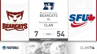 Download SFU Football vs. Willamette - September 1, 2018 Video
