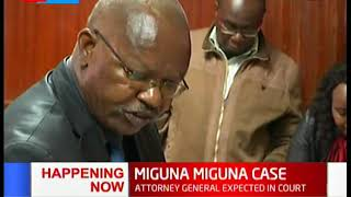 Download MIGUNA MIGUNA CASE: Attorney General expected in court to explain why orders not followed Video