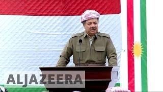 Download Battle for Mosul: Kurdish President Barzani meets troops Video