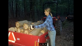 Download #264 FIREWOOD PRODUCTION is UP! She's a WORKER! Video
