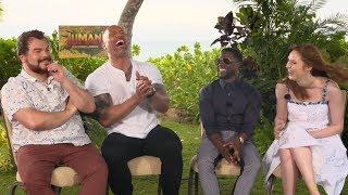 Download 'Jumanji: Welcome to the Jungle' | Unscripted | Dwayne Johnson, Kevin Hart, Jack Black, Karen Gillan Video