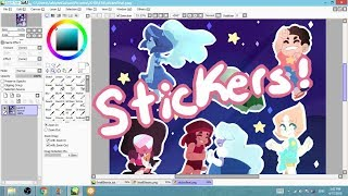 Download Steven Universe Sticker Sheet Speedpaint Video