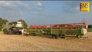 Download Umzug der Giganten - Mähdrescher John Deere 685i und Claas Lexion 780 Combine harvester Gigantic Video