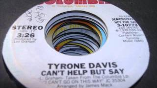 Download Tyrone Davis - Can't help but say (1978) Video
