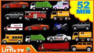 Download Street Vehicles | Car Wash Videos | Nursery Rhymes Plus Lots More | My Little TV Video
