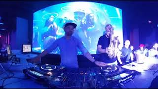 Download Saxophone & Dj - from Grey music club Wroclaw Poland video 4k 360 Video