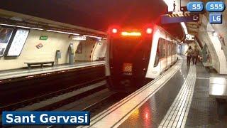 Download Sant Gervasi L6 - S5 - S55 : Metro FGC Barcelona ( UT 112 - 113 ) Video