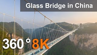 Download Zhangjiajie Glass Bridge, China. 360 aerial video in 8K Video