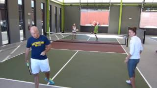 Download Chicken-N-Pickle Pickleball Tournament OMX 1/16 Finals Lincoln/Geenen v Matt Wright/Lucy Kovalova Video
