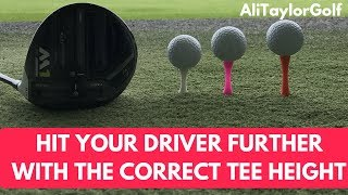 Download HIT YOUR DRIVER FURTHER WITH THE CORRECT TEE HEIGHT Video