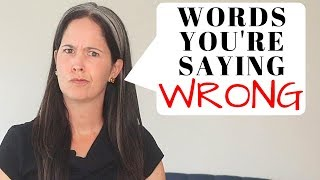 Download English Words You're Probably Mispronouncing ❌Difficult English Pronunciation | Rachel's English Video
