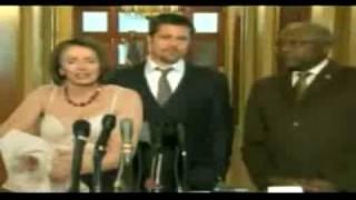 Download Nancy Pelosi Strips for Brad Pitt Video
