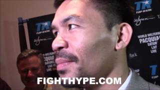 Download MANNY PACQUIAO LAUGHS AT JESSIE VARGAS REVENGE TALK; TELLS HIM ″THIS IS NOT A MOVIE″ Video