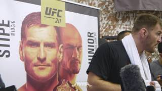 Download UFC 211: Stipe Miocic Workout Scrum - MMA Fighting Video