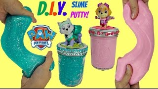 Download DO-IT-YOURSELF Paw Patrol Glitter Slime Putty DIY With Skye & Everest, Doh Vinci Toy Craft / TUYC Video