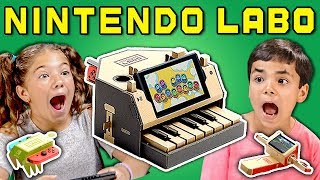 Download KIDS REACT TO NINTENDO LABO (Cardboard Video Games?!) Video