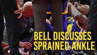 Download Warriors' Jordan Bell on ankle sprain against the Bulls Video