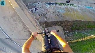 Download HUGE SCOOTER DROP OFF HIGHWAY BRIDGE! Video