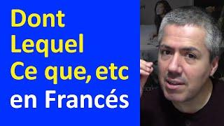 Download QUOI, DONT, CE QUE, CE QUI, À QUI, LEQUEL en Francés: Pronombres Relativos / Curso de Francés Video