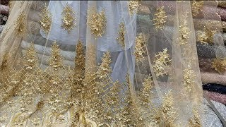 Download Dresses Fabric   Beautiful Embroidery Net Fabric   Trends For Girls And Womens   2018 Video