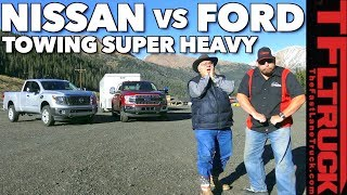 Download 2018 Ford F150 or Nissan Titan XD? Towing 11,000 lbs on the Super Ike! Video