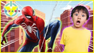 Download BRAND NEW MARVEL'S SPIDER-MAN Let's Play with Ryan & Daddy Video