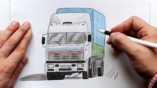 Download Как нарисовать Камаз из сериала Дальнобойщики(Ehedov Elnur)How to Draw a Truck Video
