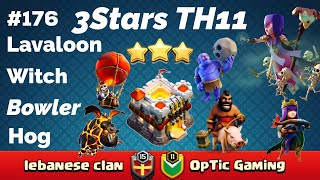 Download ClashOfClan🌟3Stars TH11 With-Lavaloon,Hogrider,With,&Bowler #176🌟2018🌟 Video