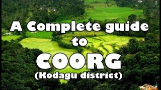Download COORG - A complete guide to COORG trip | Travel, Accommodation, Food, Places to visit | coorgtourism Video