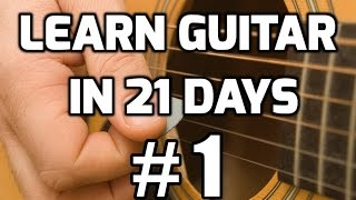 Download Guitar Lessons for Beginners in 21 days #1 | How to play guitar for beginners Video