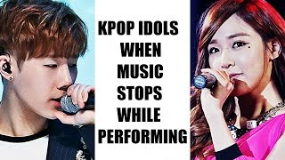 Download Kpop Groups When Music Stops While Performing On Stage Video
