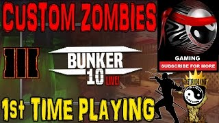 Download BO3 CUSTOM ZOMBIES | 1ST TIME PLAYING ″BUNKER 10″ [SUB 4 GREATNESS] ″I am THAT DUCK!″ Video