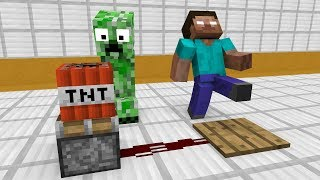 Download Monster School: Redstone Builds - Minecraft Animation Video