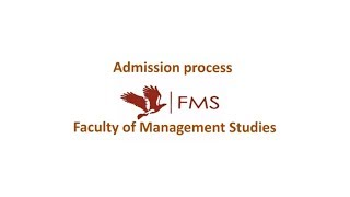 Download FMS Delhi. Admission process. Cutoffs Details and Weightages. Video