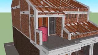 Download Renovasi Rumah Type 36, tampak Arsitek dan Strukturnya (info jasa desain, wa : 08179907234 Video