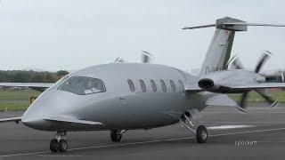 Download Piaggio Avanti P180 D-INKY - Close up/Shut down/Start up/Take off - Gloucestershire Airport Video