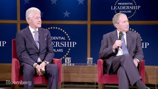 Download Clinton, Bush Reflect on Life After Leaving Office Video