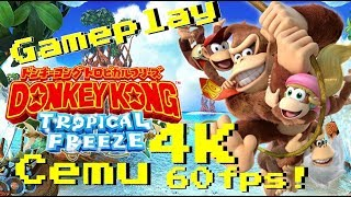 Download Donkey Kong Country Tropical Freeze 4K 60FPS Cemu 1.10.0d Video