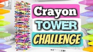 Download Crayon Tower Challenge - Stacking Crayons - #CrayonTowerChallenge Video