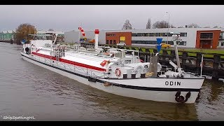 Download 'ODIN' From 1964 and TINE-B'(795HP) Spotted, Entering/ Leaving a Lock in #Groningen - #877NL ✅ Video