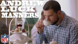 Download Andrew Luck Learns Proper Manners in London 🍵 | NFL Rush Video