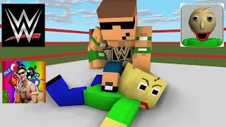 Download Monster School : Baldi's Basic Wrestling Challenge - Minecraft animation Video