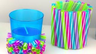 Download DIY Straw Crafts | Amazing Drinking Straw Ideas Video