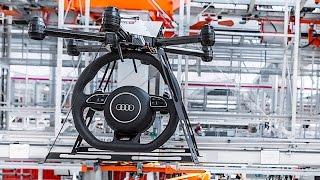 Download AUDI Smart Factory Is Very Star Wars Autonomous Drones + Self Driving Forklifts CARJAM TV Video