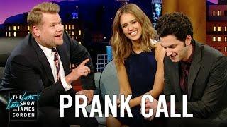 Download Jessica Alba Prank Calls Her Company w/ Ben Schwartz & James Corden Video
