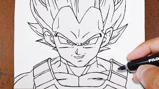 Download Como Desenhar VEGETA SUPER SAYAJIN BLUE, Dragon Ball Super Video