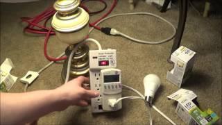 Download Dollar Tree LED Light Bulbs Kill-A-Watt testing. Video