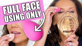 Download FULL FACE OF MAKEUP USING ONLY A BEAUTYBLENDER Video