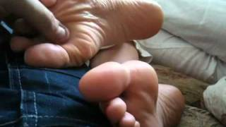 Download My gf's feet and wrinkled soles in my lap Video