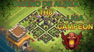 Download DISEÑO DE ALDEA AYUNTAMIENTO 8 | TH8 | DISEÑO PERFECTO | CLASH OF CLANS Video